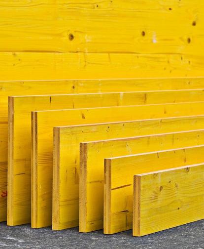 Pannelli gialli a 3 strati per edilizia prodotti etica legno - Tavole di legno per edilizia ...